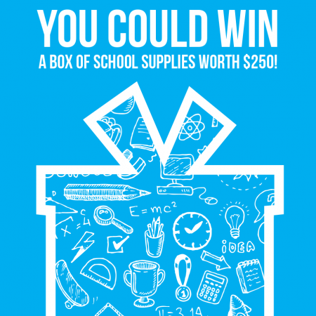 $250 Box of School Supplies Giveaway