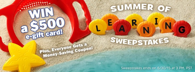 Summer of Learning Giveaway Lakeshore