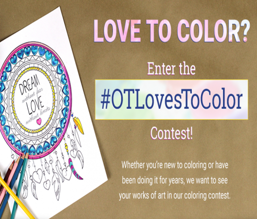 Snowed in?  Relax with #OTCLovesToColor Contest