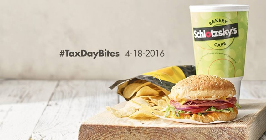 schlotzsky tax day 2016