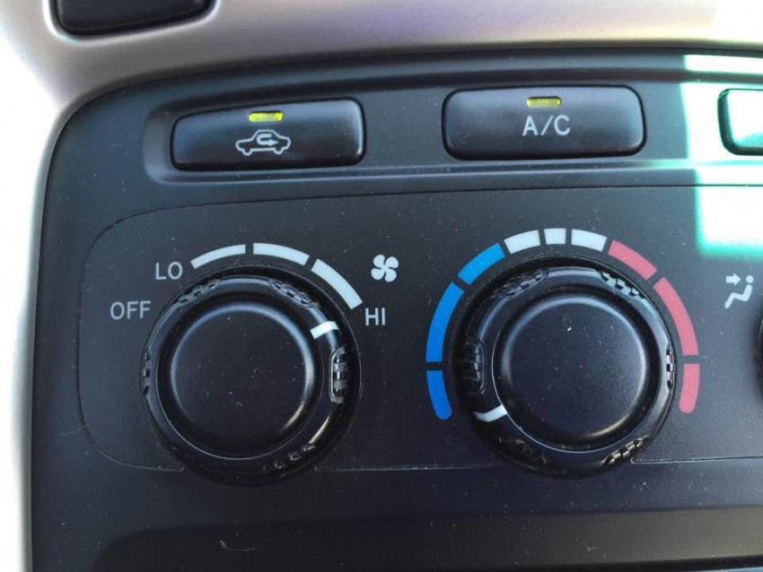 Car AC Controls