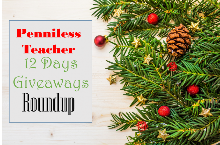 12 Days Teacher Giveaways 2017