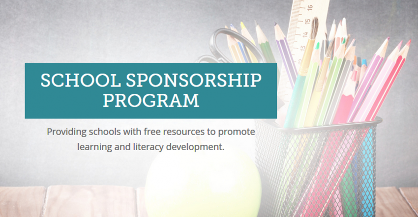 School Sponsorship Program for FREE Books