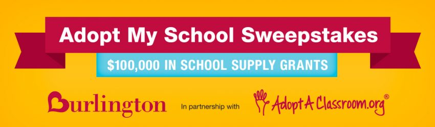 Adopt My School Sweepstakes