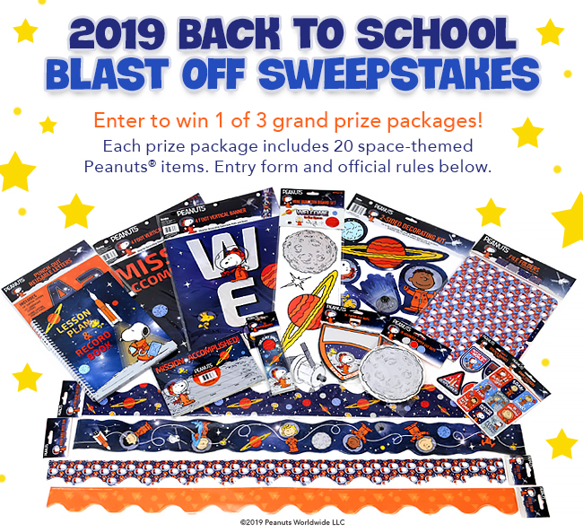Back to School Blast Off Sweepstakes