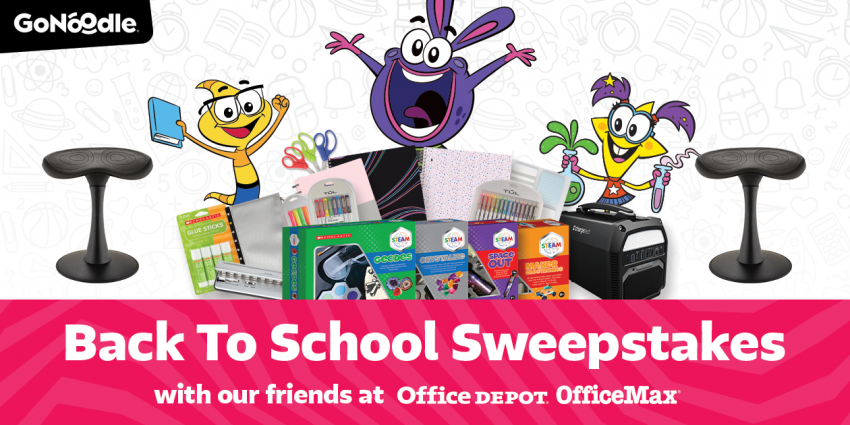 Mega Prize Pack from GoNoodle and Office Depot