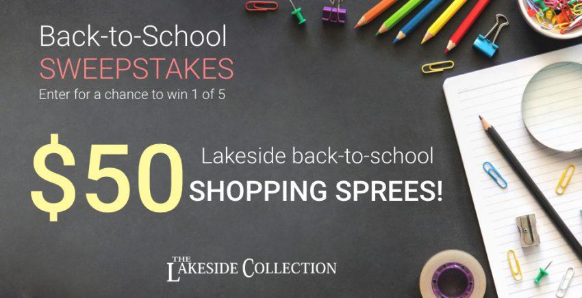 Back-to-School Lakeside Shopping Spree
