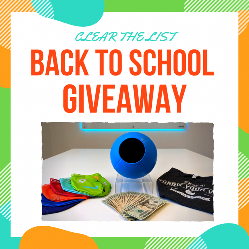 #ClearTheList Back to School Giveaway