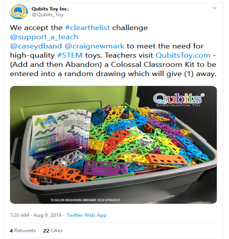 #ClearTheList STEM Toy Giveaway