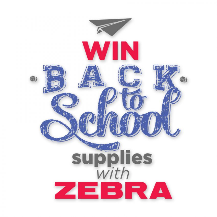 Zebra Back to School Supplies Giveaway